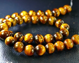 312 CT Natural Tiger Eye carved beeds Necklaces