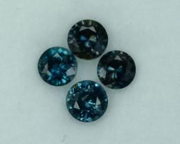 0.655 Cts Fabulous Rare Tanzania Sapphirine 4 Pc Parcel