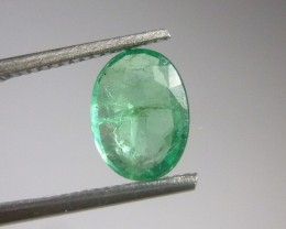 Certified 1.83cts Colombian Emerald , 100% Natural Gemstone