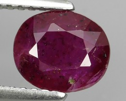 1.60 cts Tremendous Pigeon Red Oval Shape Natural Madagascar