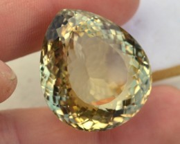 127.10 Carat Nice Pear Cut Smoky Lemon Quartz
