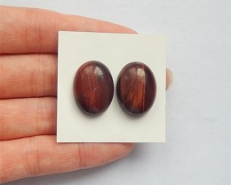 35.5ct Natural Red-Tiger Eye Pair(18031604)