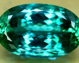 56.30 cts Large Size Oval Shape Cut Deep Green Spodumene Gemstone From Afgh