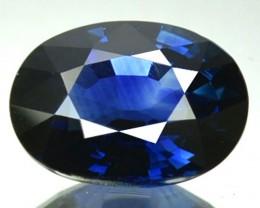 CERTIFIED 1.49 Cts Natural Corundum Blue Sapphire oval Srilanka