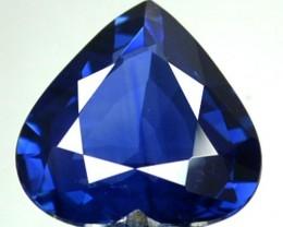 CERTIFIED 1.19 Cts Natural Corundum Blue Sapphire CUTE HEART Srilanka