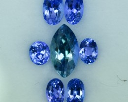 4.829 Cts Fascinating 7 Pc Tanzanite Parcel