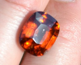 7.95 Carat Cushion Cut Fine Hessonite Garnet
