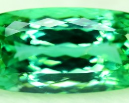 32.00 cts Radiant Cut Deep Lush Green Spodumene Gemstone From Afghanistan (