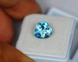 4.69Ct Natural Blue Topaz Heart Cut Lot LZ348