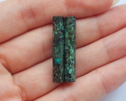 18ct Beautiful Natural African Turquoise Earring Pairs(18031716)