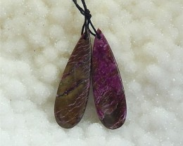 28ct New Arrival Natural African Purple Jasper  Earring Pairs (18031718)