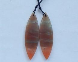 36.5ct Natural Amazonite Earring Pair(18031750)