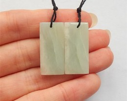 29.5ct Natural Square Elegant Amazonite Earring Pair(18031752)
