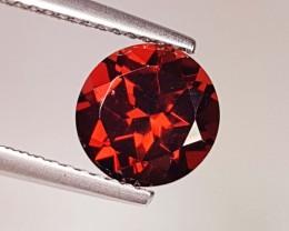 2.08 ct  AAA Grade Deep  Red Round Cut Natural Pyrope Almandite  Garnet