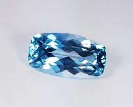 19.16 Ct  Awesome Rectangular Cushion Cut Natural Blue Topaz