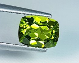1.84 ct  Excellent Cushion Cut Top Quality Peridot .