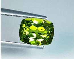 2.04 ct  Excellent Cushion Cut Top Quality Natural Peridot .