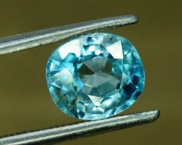 No Reserve - 2.25 Blue Zircon Loose Gemstone