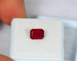 2.28ct Natural Ruby Octagon Cut Lot GW997
