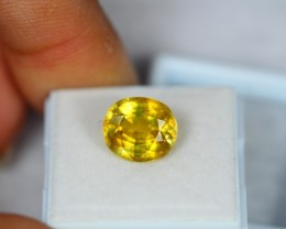 6.10ct Natural Yellow Sapphire Oval Cut Lot GW1008