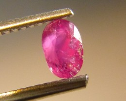 0.60cts Natural Ruby , Untreated Gemstone