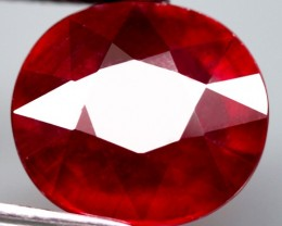 7.06 Cts.  Top Quality  Blood Red Natural Ruby Madagascar Gem