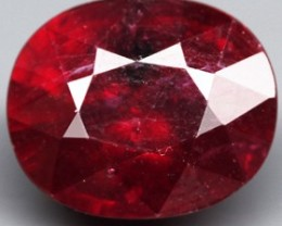 6.85 Cts. Top Quality  Blood Red Natural Ruby Madagascar Gem