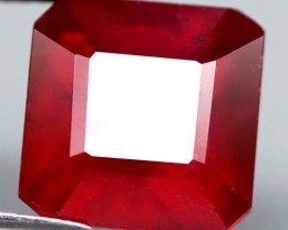 7.75 Cts. Top Quality  Blood Red Natural Ruby Madagascar Gem