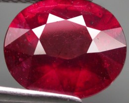 5.43 Cts. Top Quality  Blood Red Natural Ruby Madagascar Gem