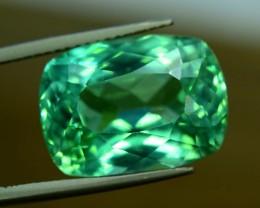 No Reserve - 13.45 cts Radiant Cut Lush Green Spodumene Gemstone From Afgha