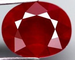 7.14  Cts. Top Quality  Blood Red Natural Ruby Madagascar Gem