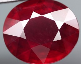 6.00 Cts . Top Quality Blood Red Natural Ruby Mozambique Gem