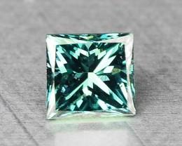 0.05 Cts Natural Blue Green Diamond Princess Africa