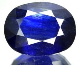 6.10 Cts Natural Deep Blue Sapphire Oval Cut Thailand Gem