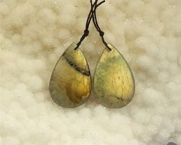 51.5ct Natural Labradorite Earring Pair(18031907)