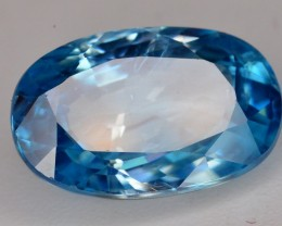 4.75 Ct Attractive Color and Luster Blue Zircon
