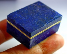 201 CT Natural lapis lazuli Carved Box Stone Special Shape