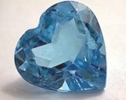 Sparkling Heart Shaped 2.90ct Swiss Blue Topaz VVS NA10