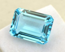 19.07 Carat Very Nice Octagon Cut Sky Blue Topaz