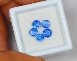 2.68ct Natural Blue Kyanite Round Cut Lot GW1014