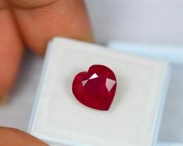 6.80ct Natural Ruby Heart Cut Lot GW1015