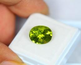 5.29ct Natural Green Peridot Oval Cut Lot GW1022