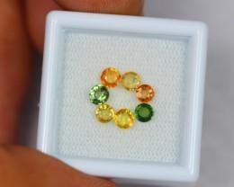 1.81ct Natural Fancy Color Sapphire Round Cut Lot GW1024