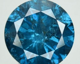 1.42 Cts Natural Fancy Blue Diamond Round Africa