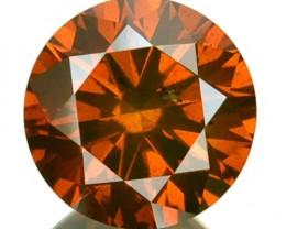 1.21 Cts Natural Orangish Red Diamond Round Africa
