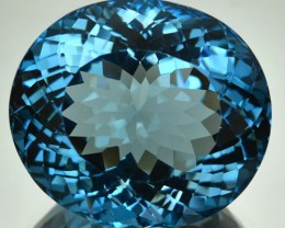 42.88 Cts Natural London Blue Topaz Oval Brazil