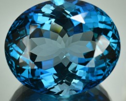 77.20 Cts Natural London Blue Topaz Oval Brazil