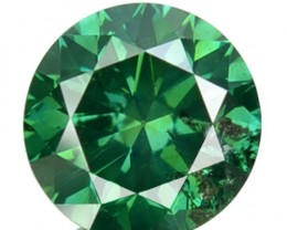 0.84 Cts Natural Blue Green Diamond Round Africa