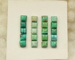 8.5Ct 20Pcs Natural Turquoise  Cabochon(18032023)