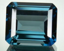 16.98 Cts Natural London Blue Topaz Octagon Brazil